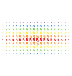 Rx symbol spectral halftone pattern vector