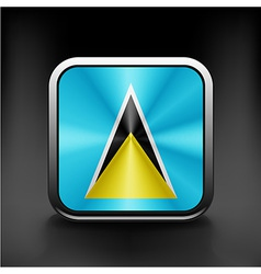 Saint Lucia flag waving form on gray background vector image
