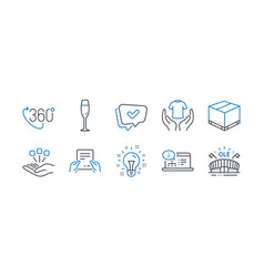 Set business icons such as online vector