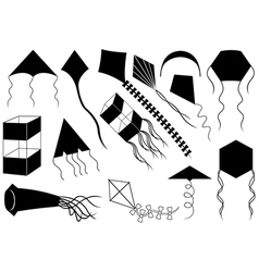 Set of different kites vector