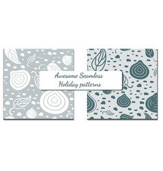 set of two winter patterns in vector image