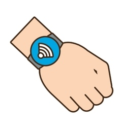 Smart watch wearable internet connected vector