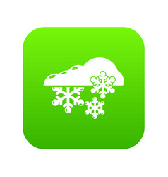 snowflake icon simple black style vector image