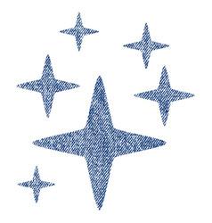 Sparkle stars fabric textured icon vector