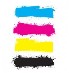 splat roller banners CMYK vector image