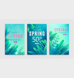 spring sale background springtime discount poster vector image
