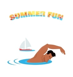 Summer Fun Banner Poster Concept Design vector