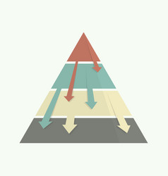 Top down pyramid business strategy vector
