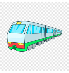 Train icon in cartoon style vector
