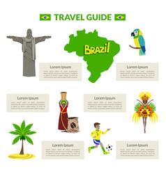 travel guide brazil cultural travel information vector image