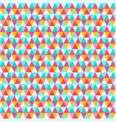 triangle seamless pattern abstract retro backdrop vector image