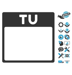 Tuesday Calendar Page Icon With Bonus vector