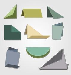 Vintage origami paper design vector