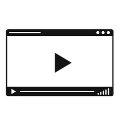 Web video player icon simple style vector