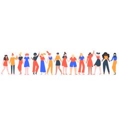 women friendship group diverse female team vector image