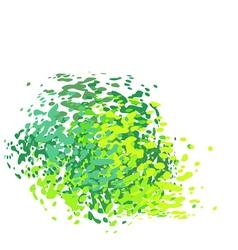 abstract liquid green drip splatter silhouette on vector image