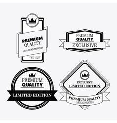Label icon set Premium and Quality design vector image vector image