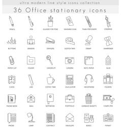 Office Stationery ultra modern outline line vector image