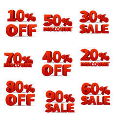 promotional discount store signs with price vector image vector image
