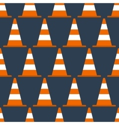 Seamless pattern with cones vector image vector image