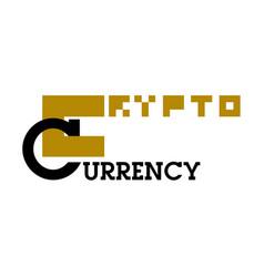 color vintage cryptocurrency emblem vector image vector image
