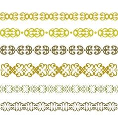 pattern border vector image