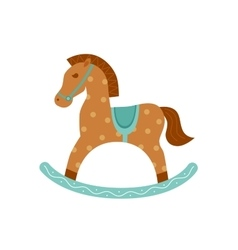 Rocking horse isotated icon vector image
