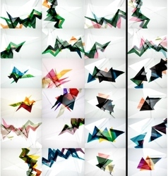 Set of triangle design geometric abstract vector image vector image