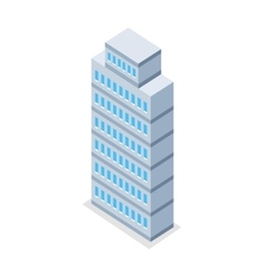 Skyscraper in Isometric Projection vector image vector image