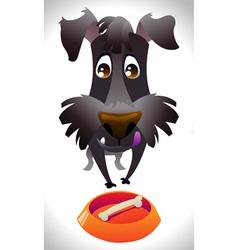 Cartoon dog ready for eat vector image vector image