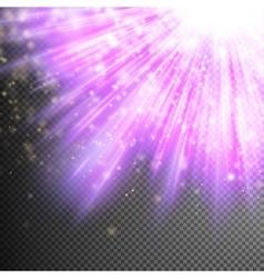 Purple luminous rays EPS 10 vector image