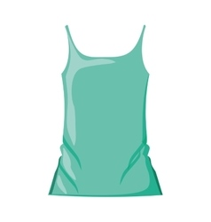 woman t-shirt sleeveless with color green vector image