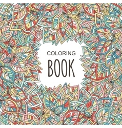 Adult coloring book cover Autumn colorful vector image vector image