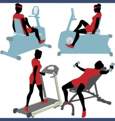 exercise machines vector image vector image