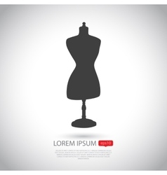 Mannequin icon Flat design vector image vector image