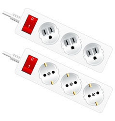 outlet sockets vector image