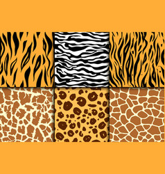 seamless pattern with cheetah skin vector image vector image