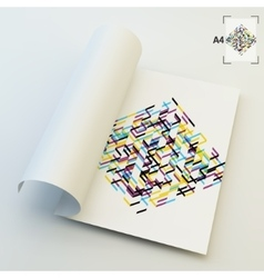 A4 Business Blank Abstract vector image