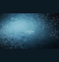 abstract polygonal dark blue background with vector image
