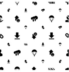 App icons pattern seamless white background vector