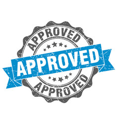 Approved stamp sign seal vector