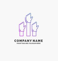 Aspiration business desire employee intent purple vector