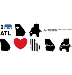 Atlanta georgia vector