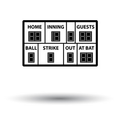 Baseball scoreboard icon vector