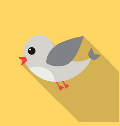 bird flat icon for web and mobile vector image