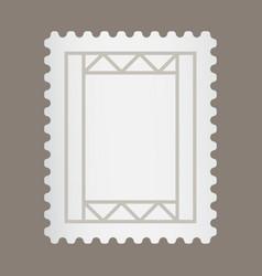 Blank postage stamp or letter stamp for apps vector