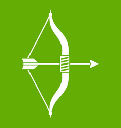 bow and arrow icon green vector image