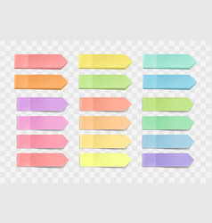 bright sticky notes pack of stickers with vector image