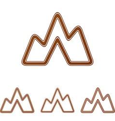 Brown line landscape logo design set vector
