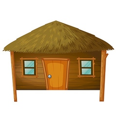 Bungalow made woods vector